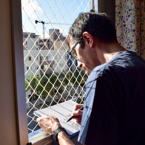 Designer retrata cotidiano do isolamento em livro ilustrado