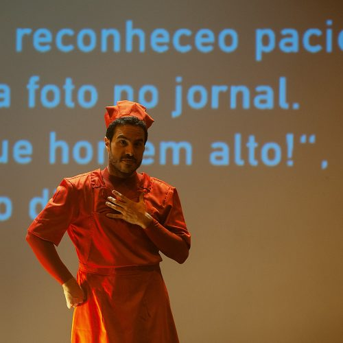 Marco Bravo e Diego Fortes estreiam monólogo com Giselle Itié