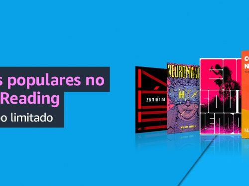 Amazon.com.br anuncia novos títulos no catálogo de eBooks de Prime Reading