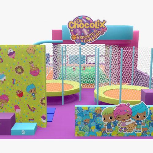 """""""Os Chocolix"""", ganha arena de esportes em shopping de Campinas"""