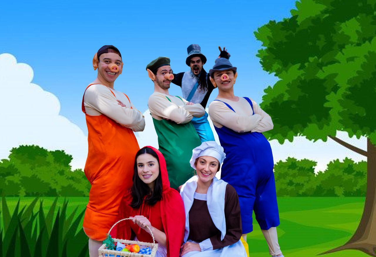 'Chapeuzinho Vermelho e Os Três Porquinhos' chega ao Teatro Ruth Escobar em curta temporada